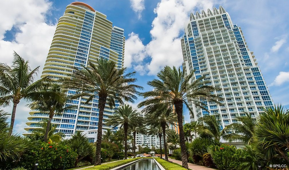 North and South Towers at Continuum, Luxury Oceanfront Condos Located at 50-100 South Pointe Dr, Miami Beach, FL 33139