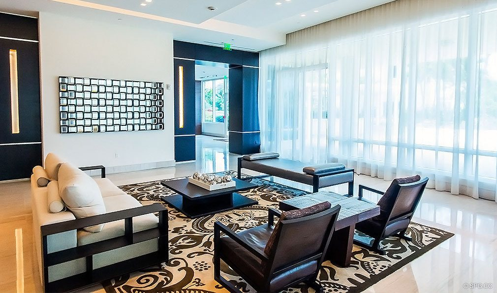 Common Room at Continuum, Luxury Oceanfront Condos Located at 50-100 South Pointe Dr, Miami Beach, FL 33139