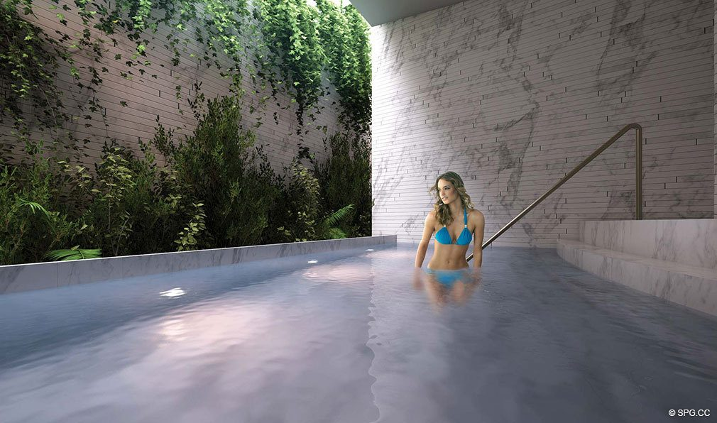 Spa Jacuzzi at Grove at Grand Bay, Luxury Waterfront Condominiums at 2669 South Bayshore Dr, Miami, FL 33133