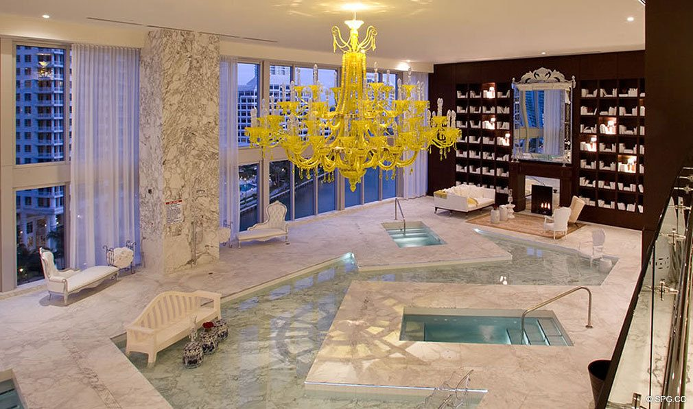 Spa at ICON Brickell, Luxury Waterfront Condominiums Located at 475 Brickell Ave, Miami, FL 33131