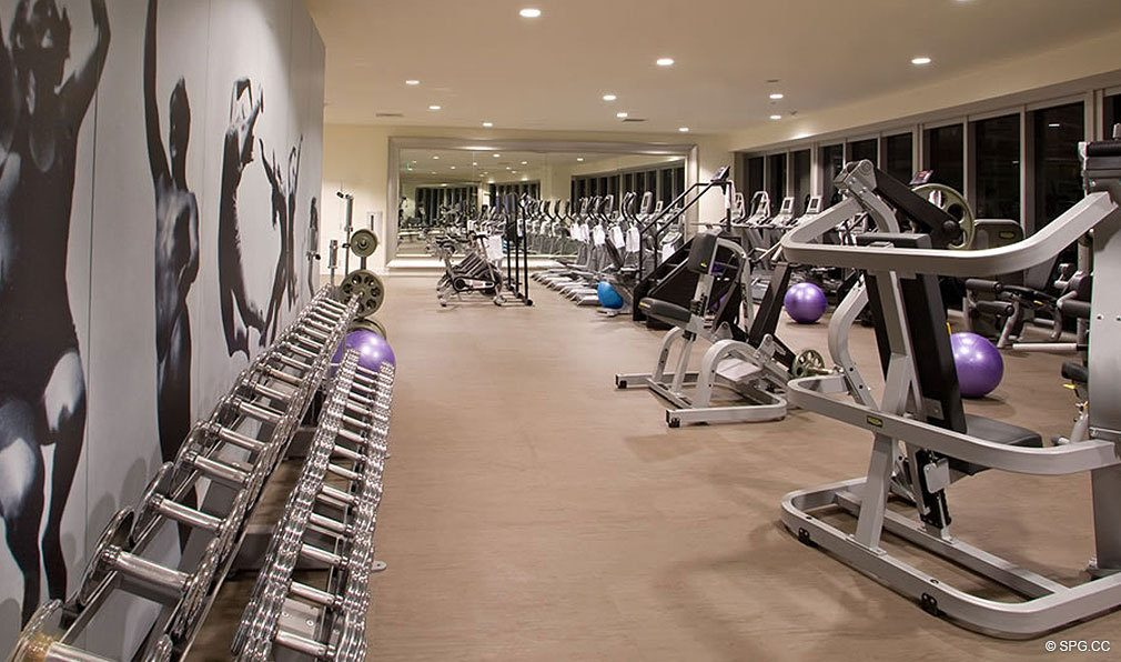 Fitness Center at ICON Brickell, Luxury Waterfront Condominiums Located at 475 Brickell Ave, Miami, FL 33131