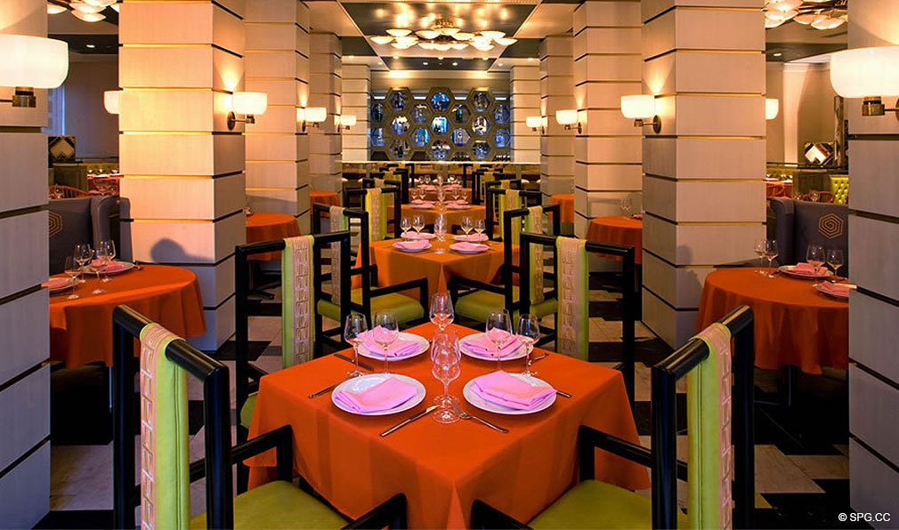 Fine Dining at ICON Brickell, Luxury Waterfront Condominiums Located at 475 Brickell Ave, Miami, FL 33131