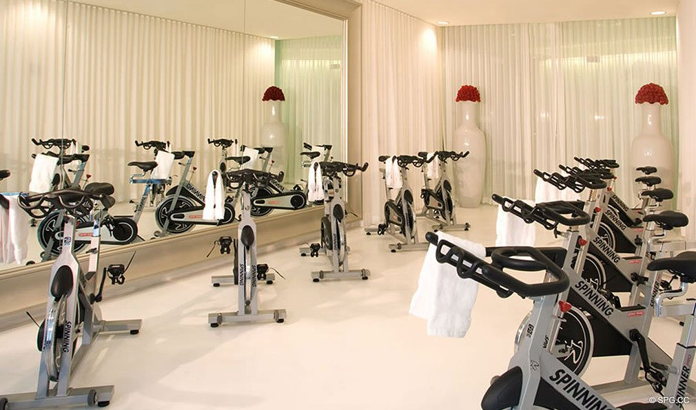 Gym at ICON Brickell, Luxury Waterfront Condominiums Located at 475 Brickell Ave, Miami, FL 33131