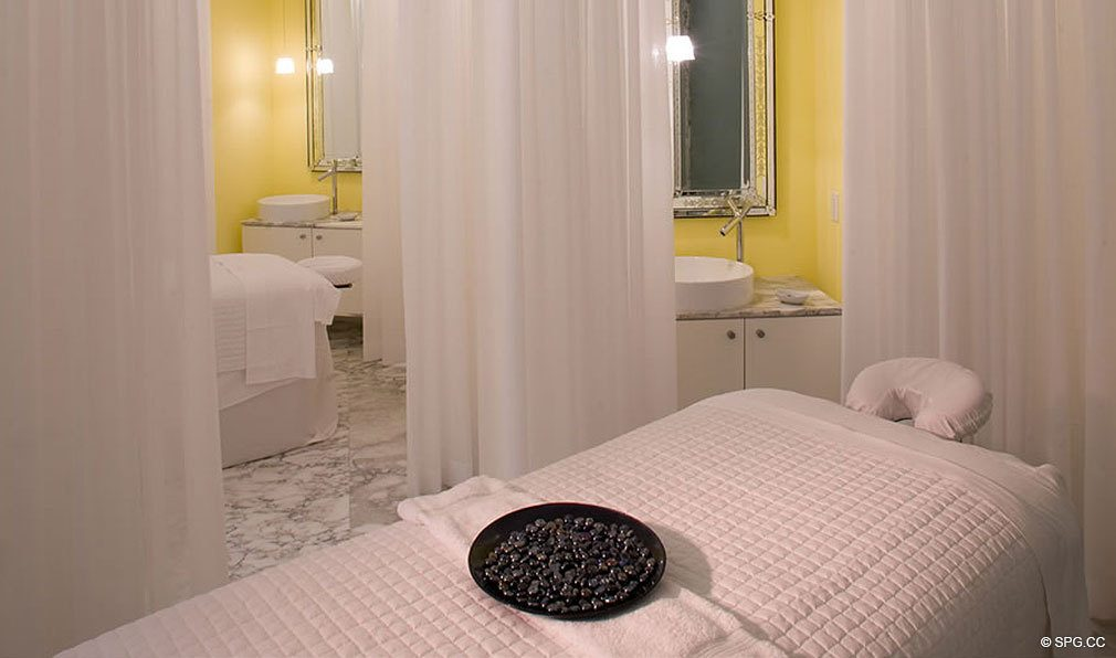 Spa Treatment Room at ICON Brickell, Luxury Waterfront Condominiums Located at 475 Brickell Ave, Miami, FL 33131