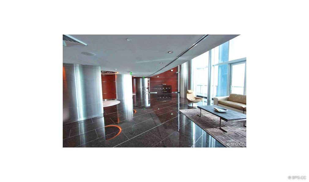 Main Lobby at Jade Beach, Luxury Oceanfront Condominiums Located at 17001 Collins Ave, Sunny Isles Beach, FL 33160