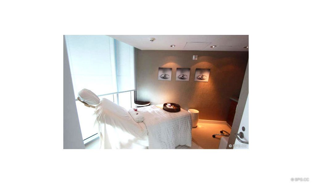 Jade Beach Spa Treatment Room, Luxury Oceanfront Condominiums Located at 17001 Collins Ave, Sunny Isles Beach, FL 33160