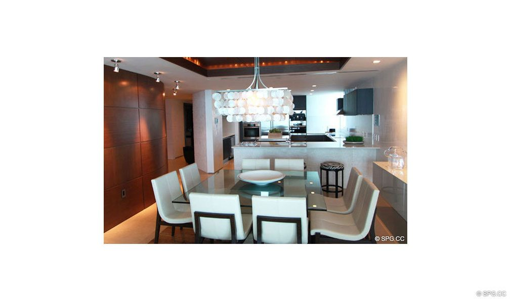 Kitchen at Jade Beach, Luxury Oceanfront Condominiums Located at 17001 Collins Ave, Sunny Isles Beach, FL 33160