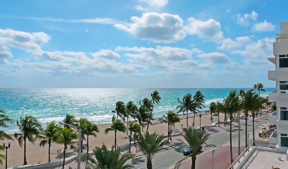 Beach View From Las Olas Club Luxury Oceanfront Iniums Located At 101 S Ft