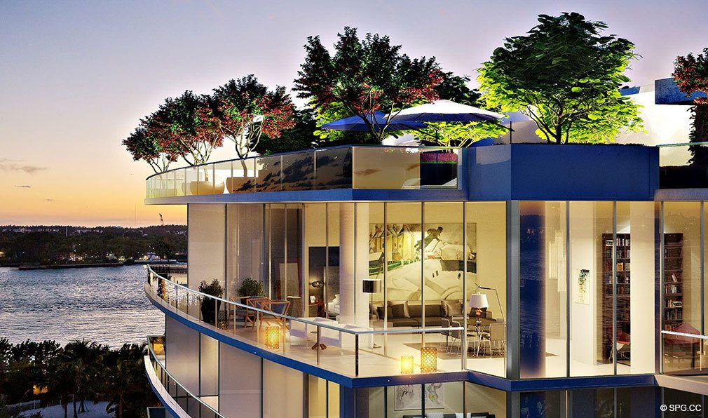 Terrace Views From Marea South Beach Luxury Seaside Iniums At 801 S Pointe Dr