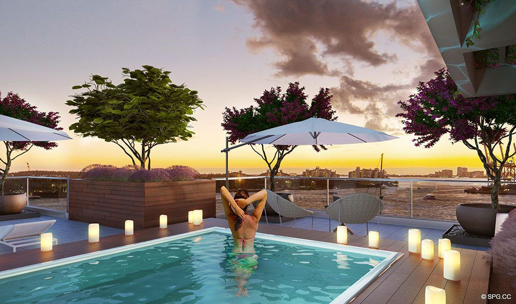 Rooftop Pool At Marea South Beach Luxury Seaside Iniums 801 S Pointe Dr