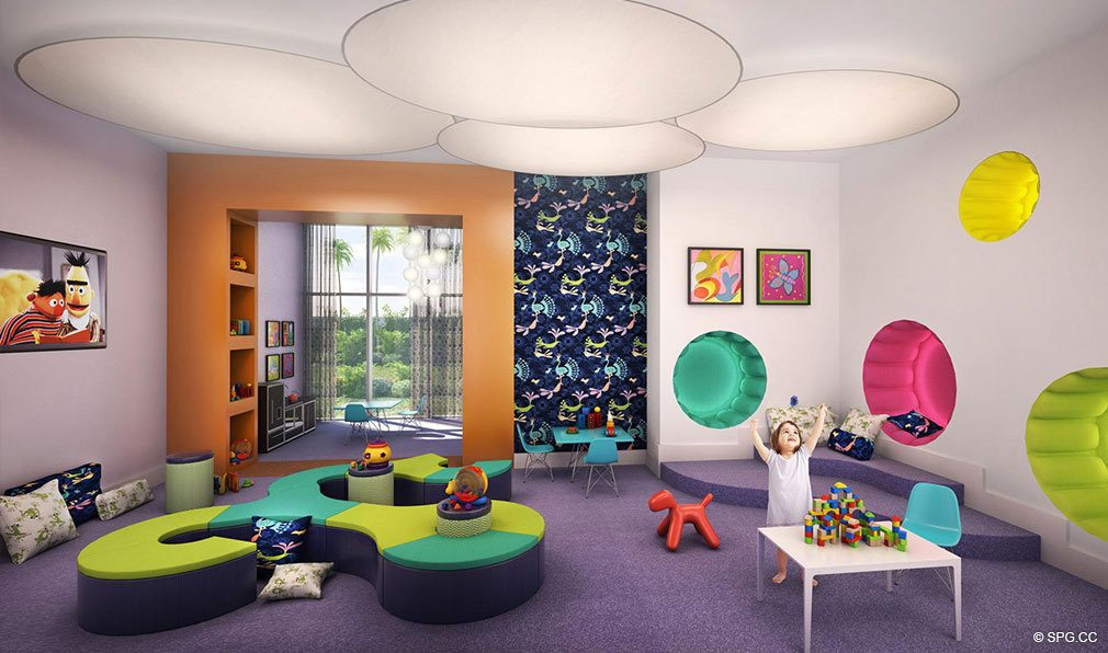 Childrens Room At Marina Palms Yacht Club Luxury Waterfront Condominiums Located 17201 Biscayne Blvd Living
