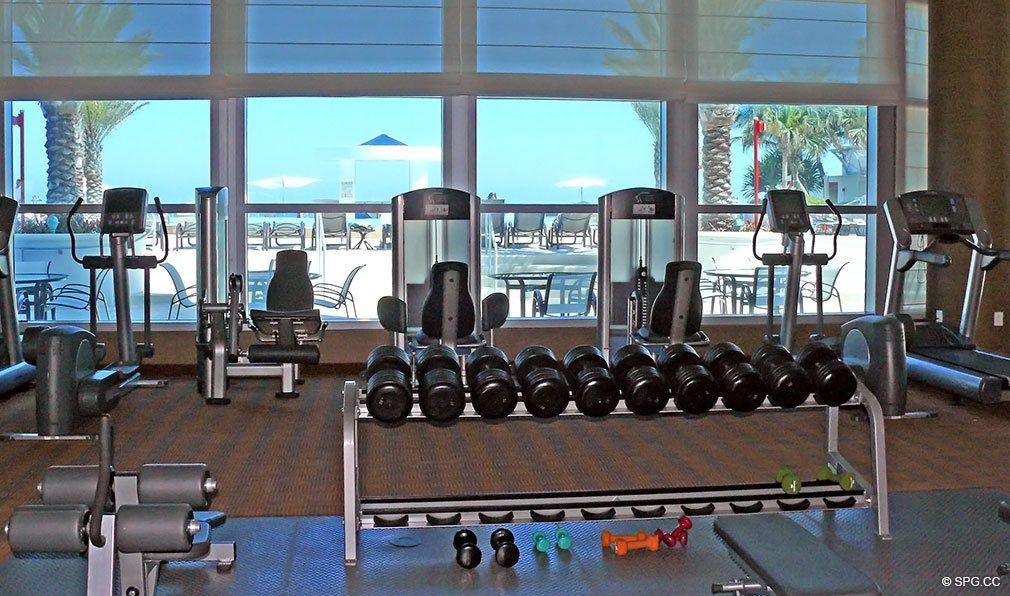 Ocean Palms Fitness Center, Luxury Oceanfront Condominiums Located at 3101 S Ocean Dr, Hollywood Beach, FL 33019