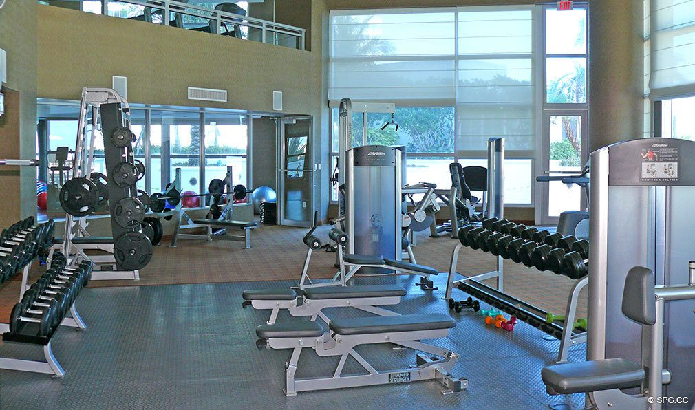 Ocean Palms Gym, Luxury Oceanfront Condominiums Located at 3101 S Ocean Dr, Hollywood Beach, FL 33019