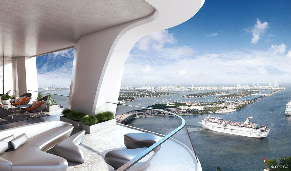 Terraces at One Thousand Museum, Luxury Waterfront Condominiums Located at 1000 Biscayne Blvd, Miami, FL 33132