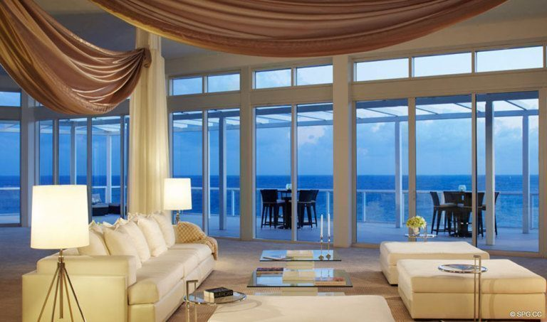 ... One Thousand Ocean Living Room, Luxury Oceanfront Condominiums Located  At 1000 S Ocean Blvd, ... Part 55