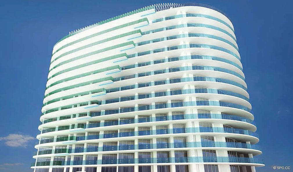 Another View of Paramount, Luxury Oceanfront Condominiums Located at 700 N Atlantic Blvd, Ft Lauderdale, FL 33304