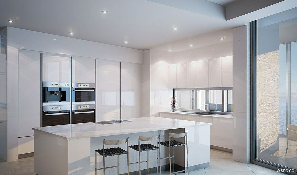 ... Kitchen Design At Porsche Design Tower Miami, Luxury Oceanfront  Condominiums Located At 18555 Collins Ave ...