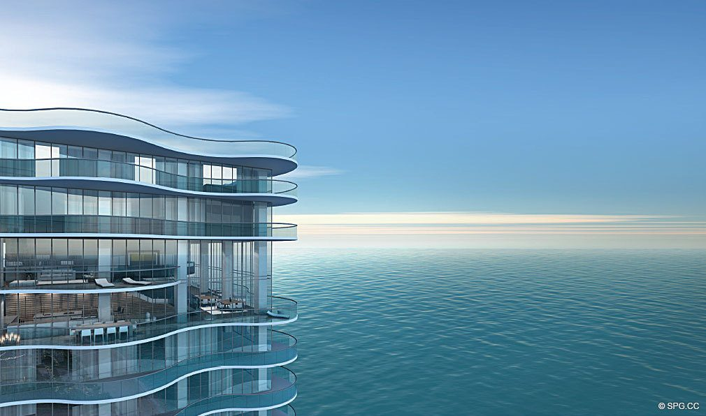 Ocean Views from Regalia, Luxury Oceanfront Condominiums Located at 19505 Collins Ave, Sunny Isles Beach, FL 33160