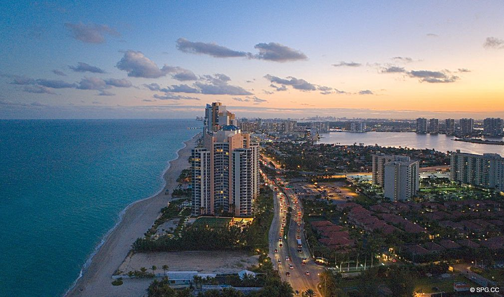 Panoramic Views from Regalia, Luxury Oceanfront Condominiums Located at 19505 Collins Ave, Sunny Isles Beach, FL 33160