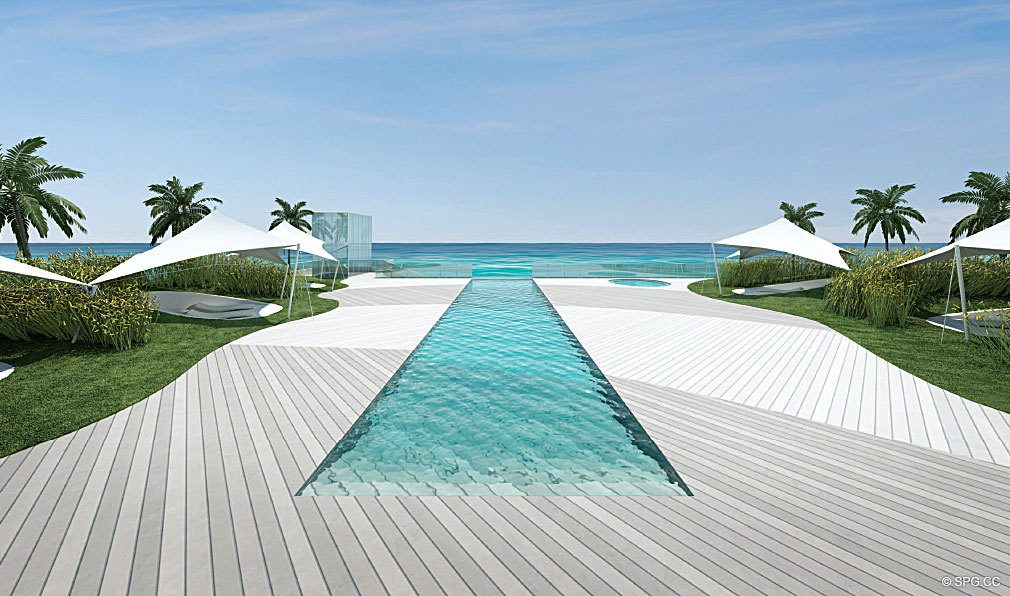Beachfront Pool at Regalia, Luxury Oceanfront Condominiums Located at 19505 Collins Ave, Sunny Isles Beach, FL 33160