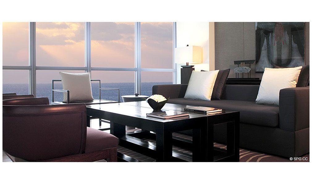 Setai Living Room Luxury Oceanfront Condominiums Located At 101 20th St Miami Beach