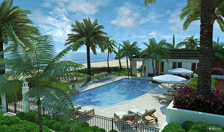 Pool at 4001 North Ocean, Luxury Oceanfront Condominiums Located at 4001 North Ocean Boulevard, Gulf Stream, FL 33483
