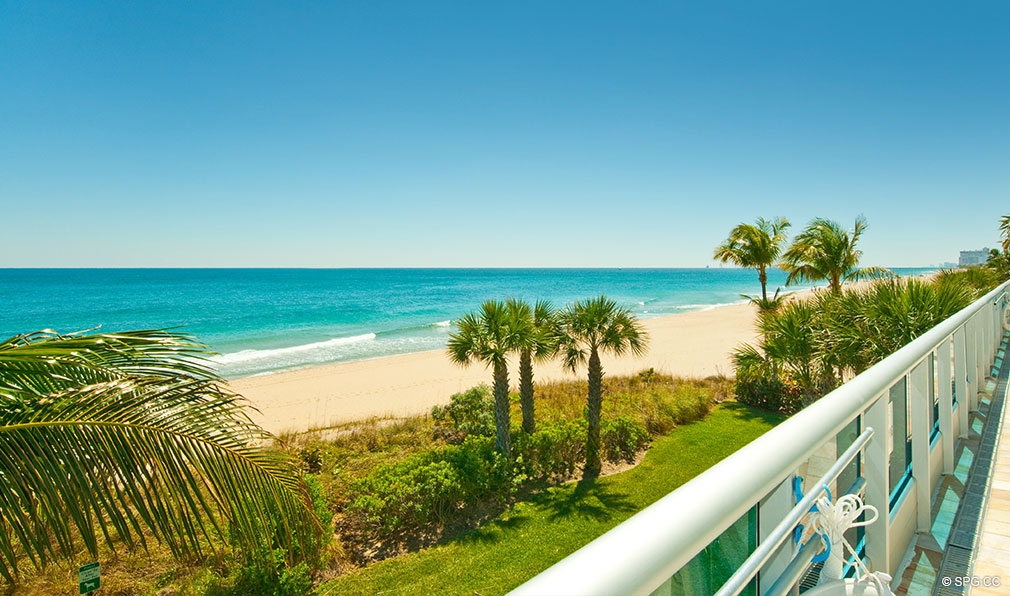 Beach Views at Aquazul, Luxury Oceanfront Condominiums Located at 1600 South Ocean Boulevard, Lauderdale-by-the-Sea, FL 33062