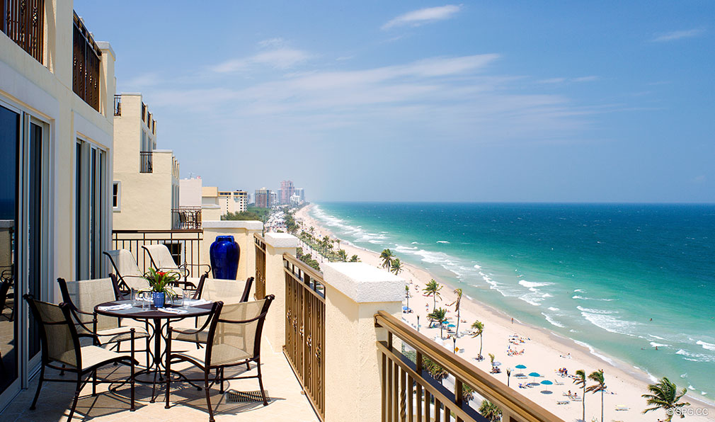 Ocean Views from The Atlantic, Luxury Oceanfront Condominiums Located at 601 North Fort Lauderdale Beach Blvd, FL 33304