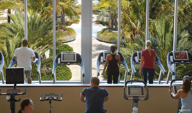 Fitness Center at Canyon Ranch Living, Luxury Oceanfront Condominiums Located at 6799-6899 Collins Avenue, Miami Beach, FL 33141