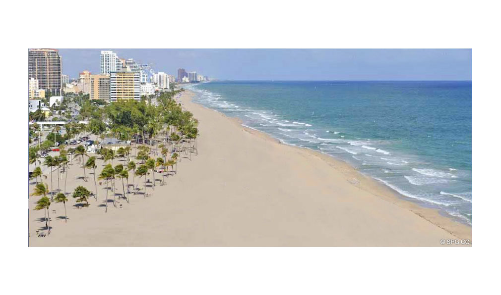 Pristine Beach at Coconut Grove Residences, Luxury Oceanfront Condominiums Located at 1200 Holiday Dr, Fort Lauderdale, FL 33316