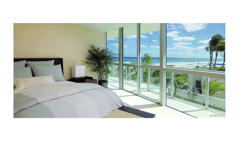 Bedroom at Coconut Grove Residences, Luxury Oceanfront Condominiums Located at 1200 Holiday Dr, Fort Lauderdale, FL 33316