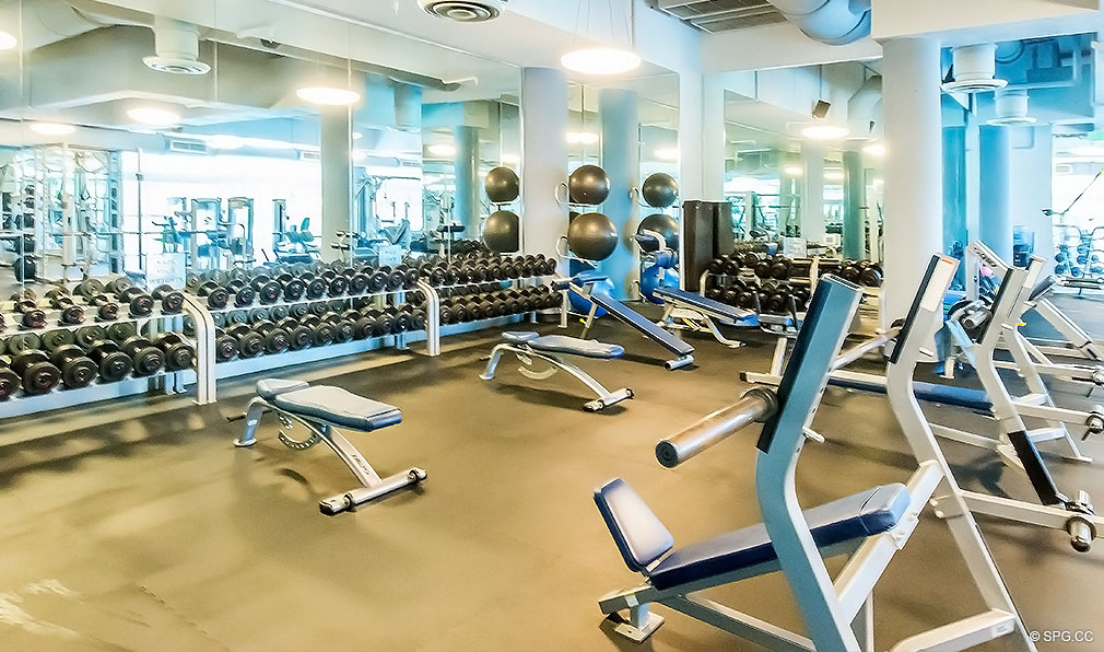 Fitness Center at Continuum, Luxury Oceanfront Condos Located at 50-100 South Pointe Dr, Miami Beach, FL 33139