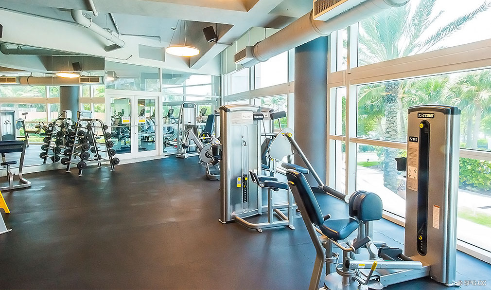 Gym at Continuum, Luxury Oceanfront Condos Located at 50-100 South Pointe Dr, Miami Beach, FL 33139