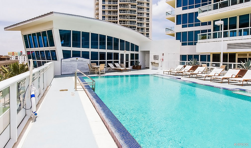 Rooftop Lap Pool at Continuum, Luxury Oceanfront Condos Located at 50-100 South Pointe Dr, Miami Beach, FL 33139