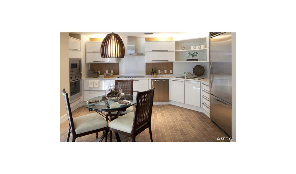 Kitchen at Dolcevita, Luxury Oceanfront Condominiums Located at 155 South Ocean Ave, Singer Island, FL 33404