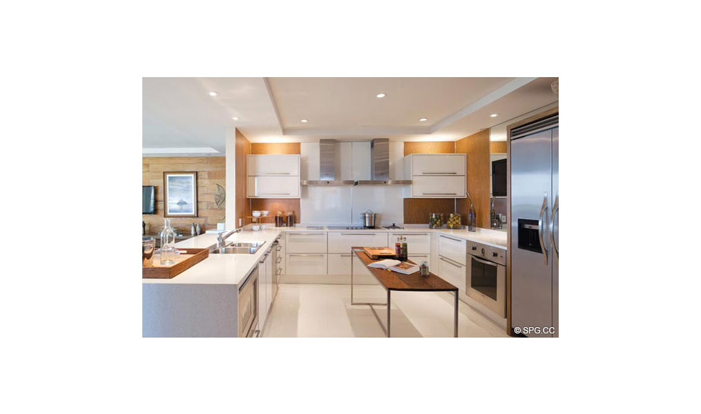 Another Kitchen at Dolcevita, Luxury Oceanfront Condominiums Located at 155 South Ocean Ave, Singer Island, FL 33404