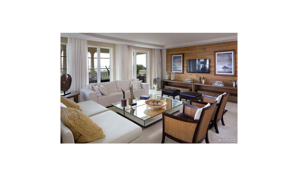 Another Living Room Design at Dolcevita, Luxury Oceanfront Condominiums Located at 155 South Ocean Ave, Singer Island, FL 33404