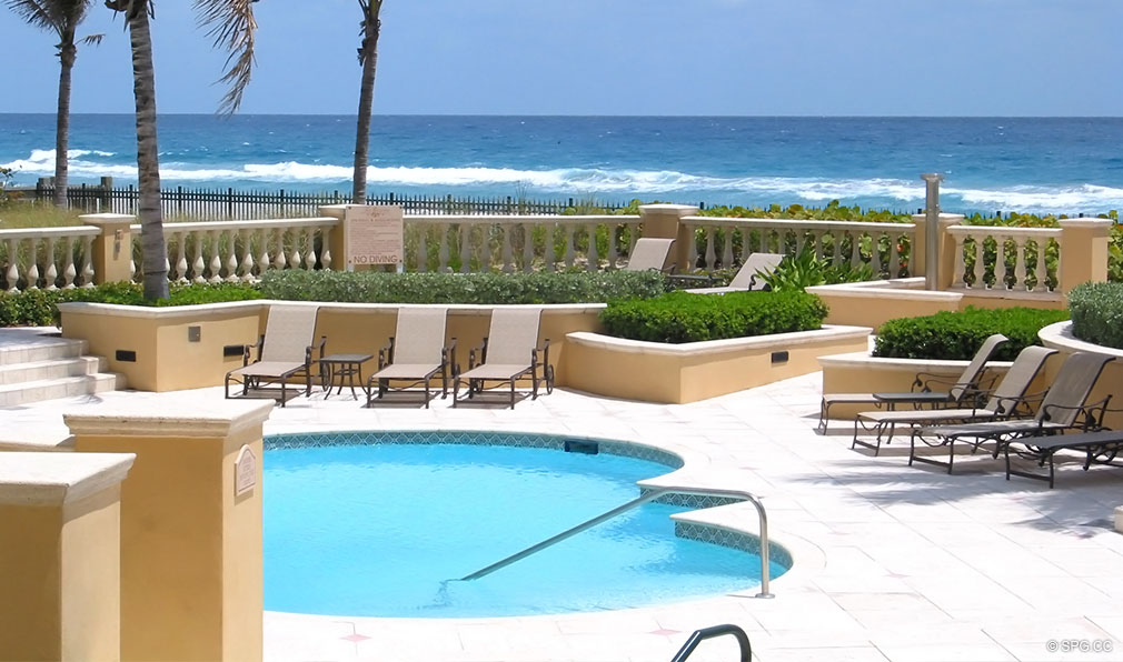 Oceanfront Pool at Excelsior, Luxury Oceanfront Condominiums Located at 400 South Ocean Blvd, Boca Raton, FL 33432