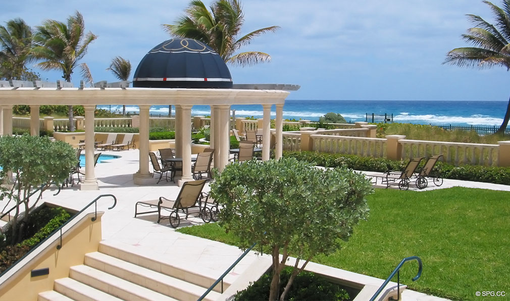 Landscaped Grounds at Excelsior, Luxury Oceanfront Condominiums Located at 400 South Ocean Blvd, Boca Raton, FL 33432