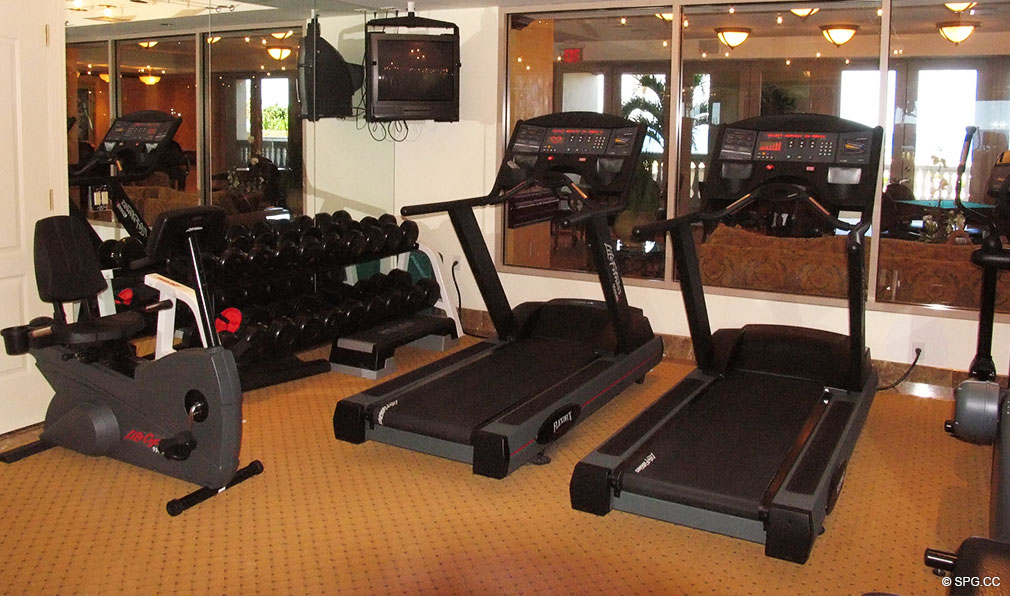 Fitness Center at Excelsior, Luxury Oceanfront Condominiums Located at 400 South Ocean Blvd, Boca Raton, FL 33432