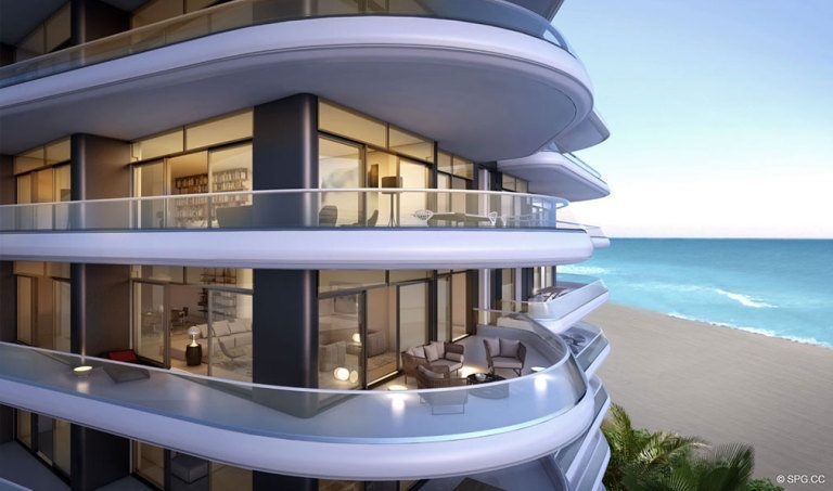 Ocean Views from Faena House, Luxury Oceanfront Condominiums Located at 3201 Collins Ave, Miami Beach, FL 33140