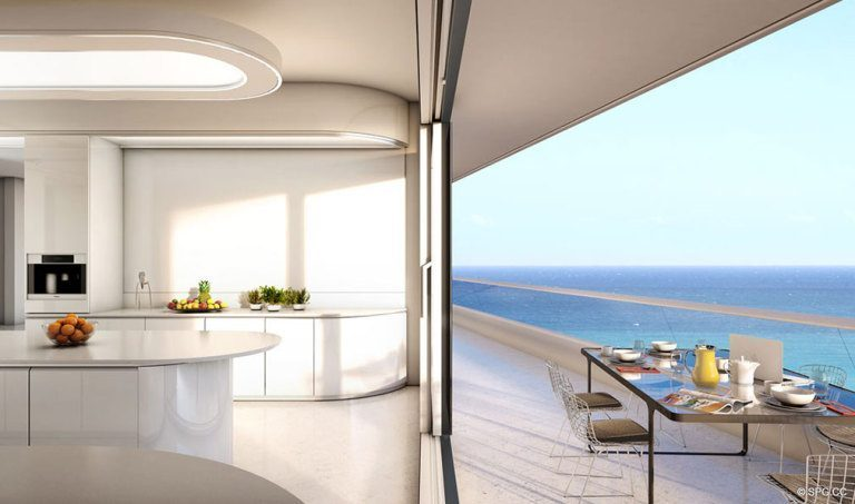 Indoor and Outdoor Living at Faena House, Luxury Oceanfront Condominiums Located at 3201 Collins Ave, Miami Beach, FL 33140