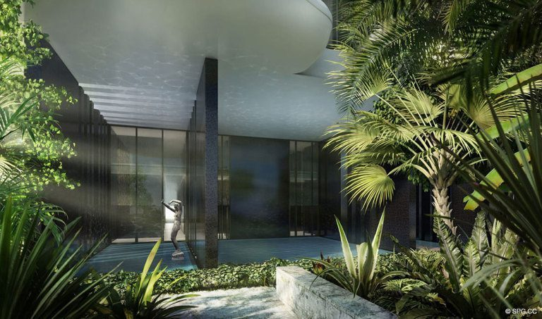 Landscaping at Faena House, Luxury Oceanfront Condominiums Located at 3201 Collins Ave, Miami Beach, FL 33140