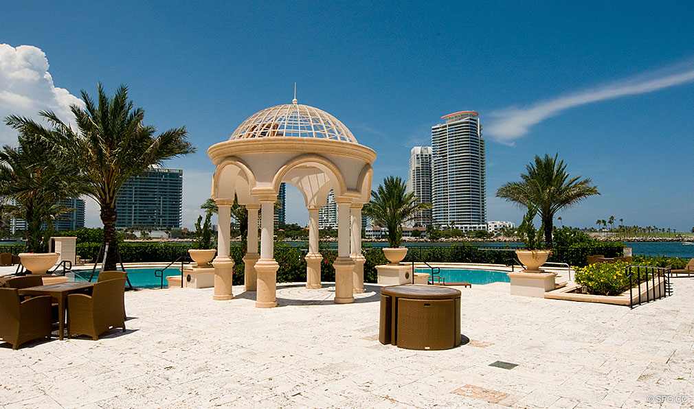 Pool at Fisher Island, Luxury Oceanfront Condos Located at One Fisher Island Dr, Fisher Island, FL 33109