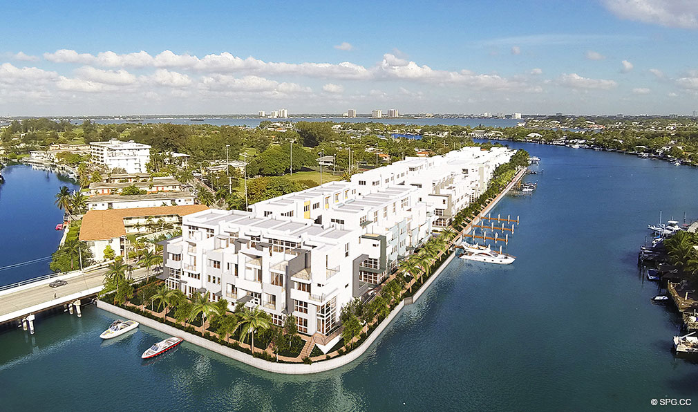 iris on the bay waterfront townhomes in miami beach