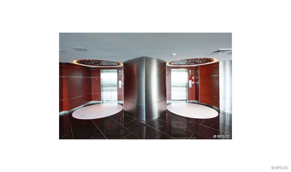 Jade Beach Elevator Lobby, Luxury Oceanfront Condominiums Located at 17001 Collins Ave, Sunny Isles Beach, FL 33160