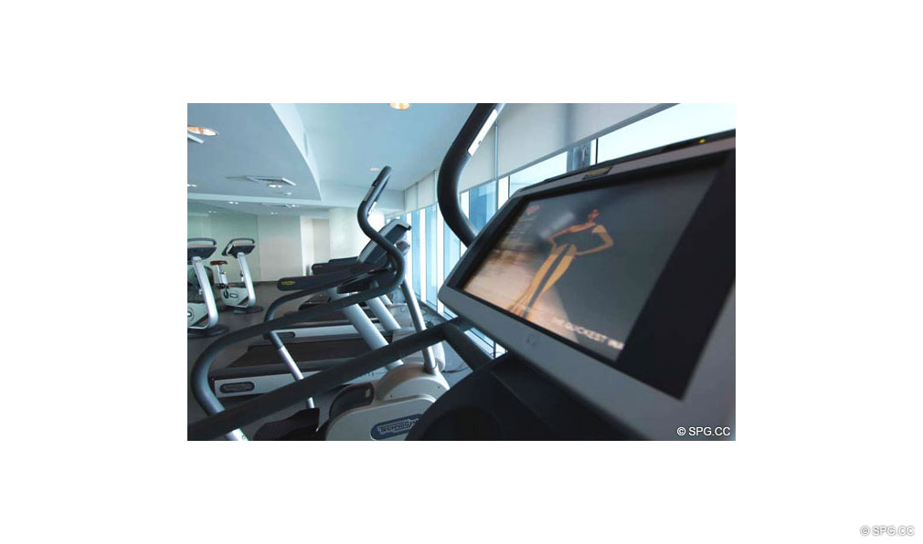 Gym at Jade Beach, Luxury Oceanfront Condominiums Located at 17001 Collins Ave, Sunny Isles Beach, FL 33160