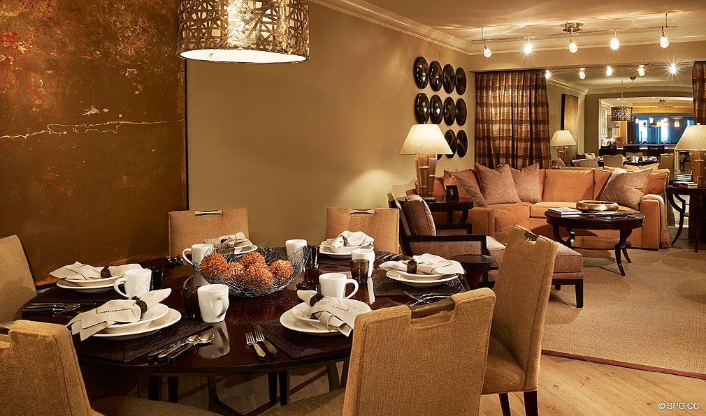Breakfast Area at Luxuria, Luxury Oceanfront Condominiums Located at 2500 S Ocean Blvd, Boca Raton, FL 33432