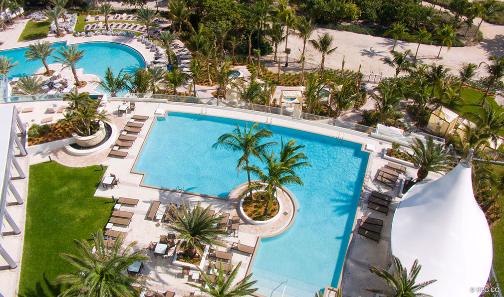 One Bal Harbour Pools, Luxury Oceanfront Condominiums Located at 10295 Collins Ave, Bal Harbour, FL 33154