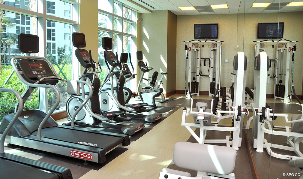 Gym at One Bal Harbour, Luxury Oceanfront Condominiums Located at 10295 Collins Ave, Bal Harbour, FL 33154